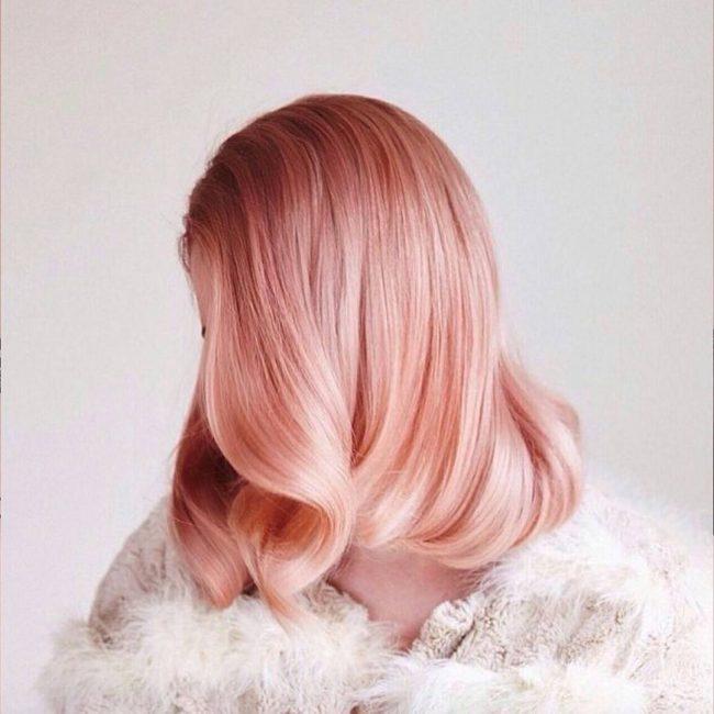 Окрашивание волос розовые оттенки