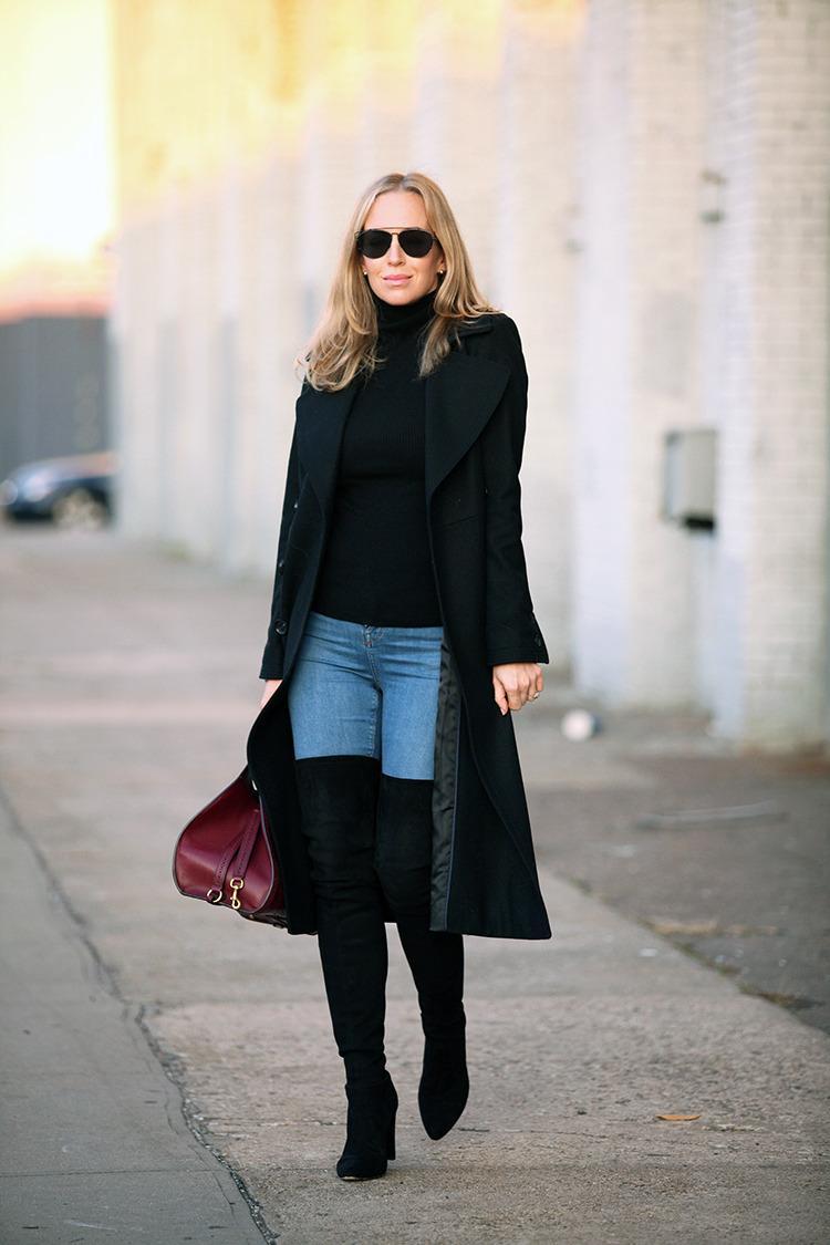 стильные образы с черным пальто фото поразмыслив