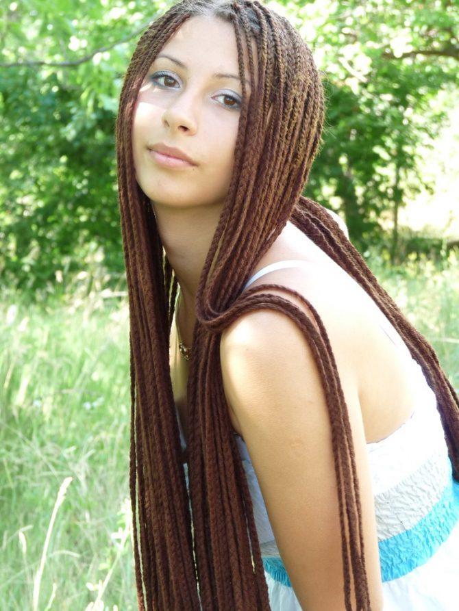 Африканские косички с нитками картинки