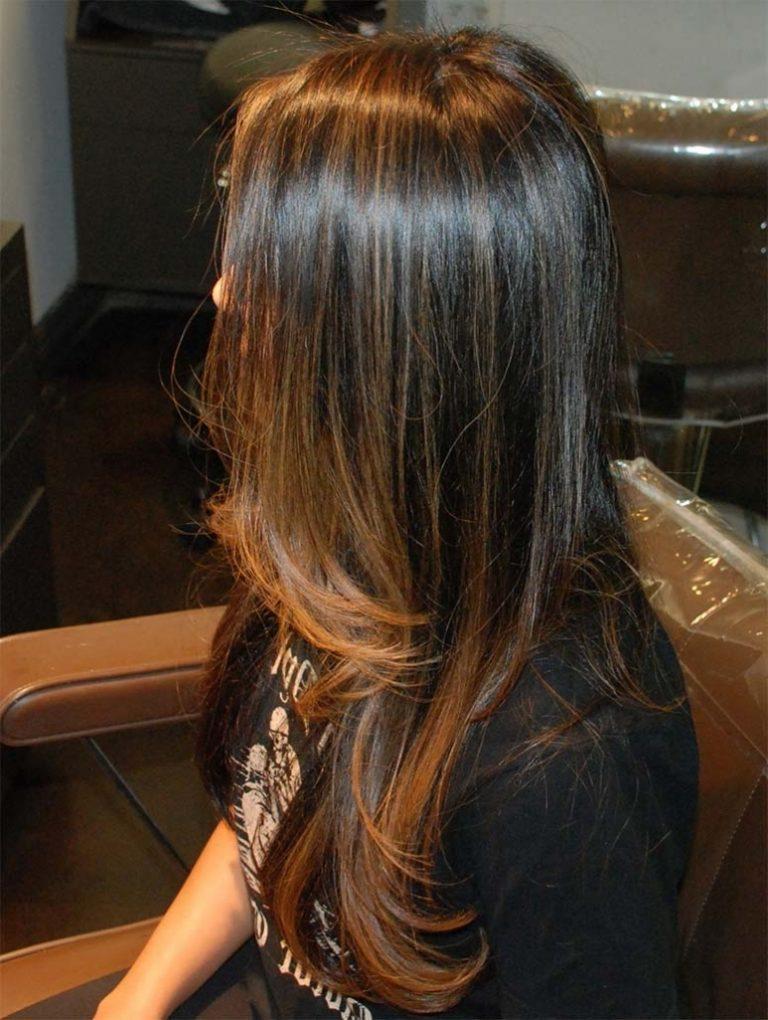 Мелирование на темные волосы пошаговое
