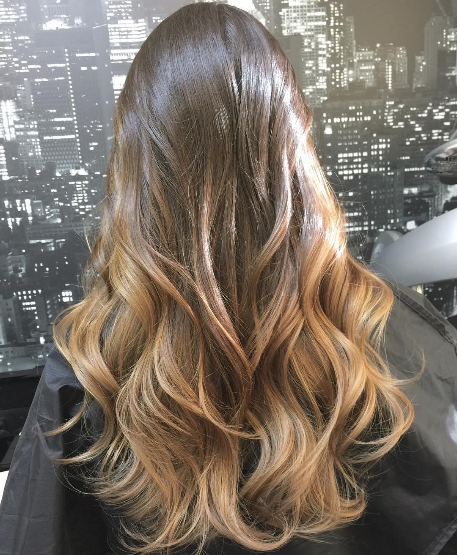 Окрашивание омбре: переход волос от темного к светлому 89