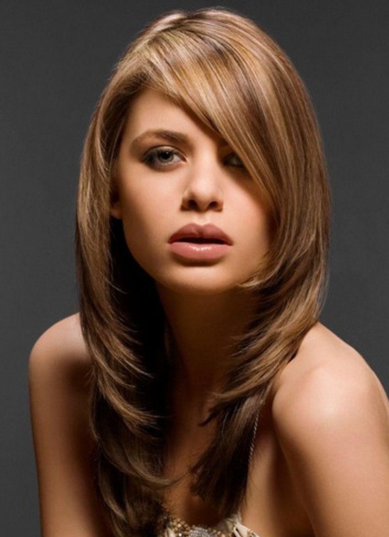 Женские стрижки на длинных волосах