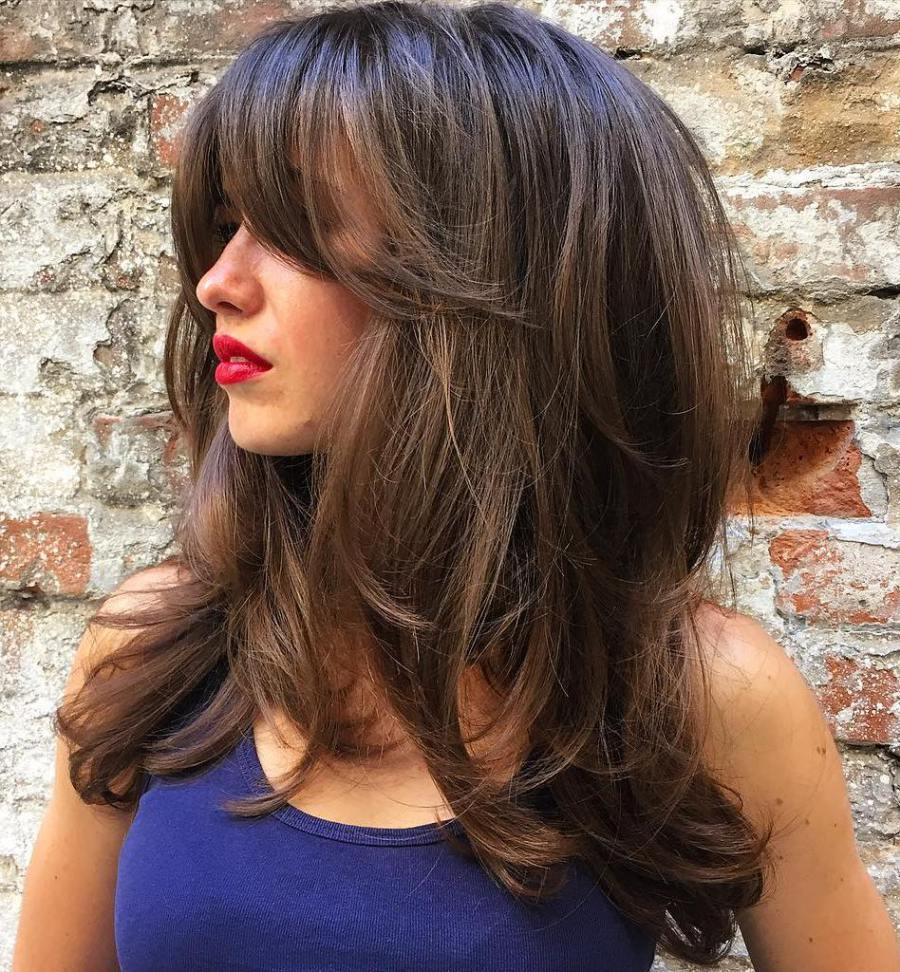 Женские прически каскад на длинные волосы