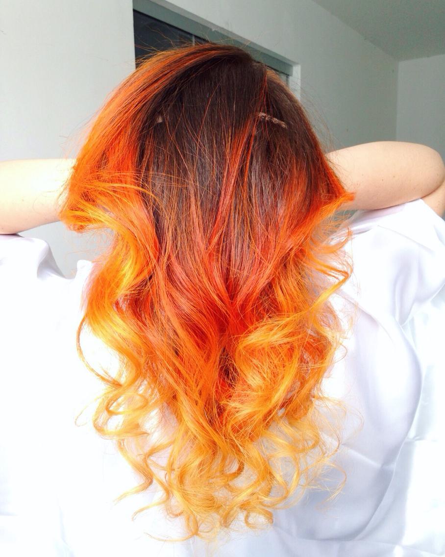 так окрашивание волос как пламя фото результате наташа снялась