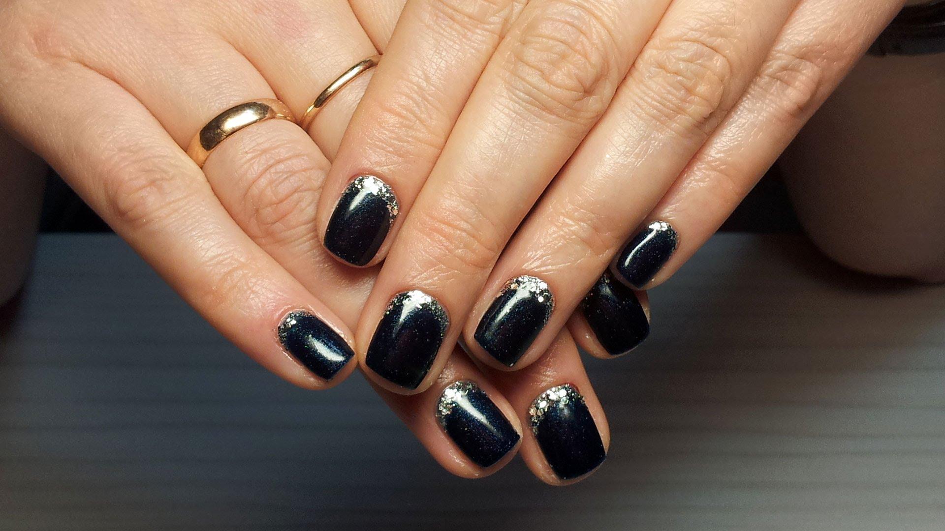 Новогодний Маникюр Шеллаком На Короткие Ногти Фото