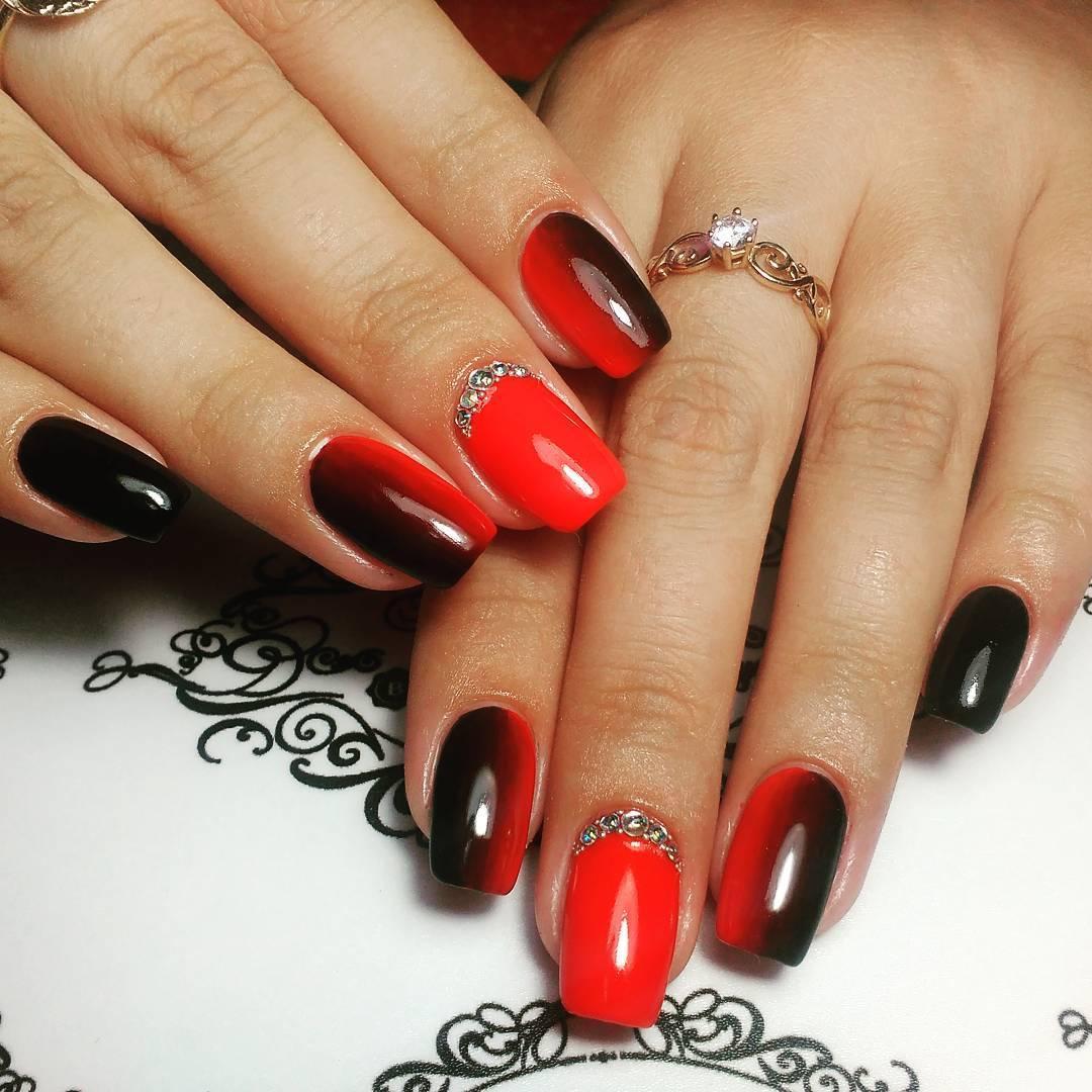 элегантный дизайн ногтей 24 в красных тонах