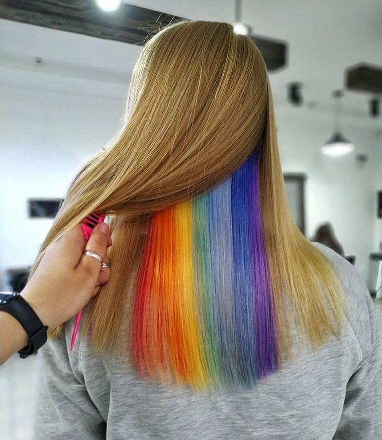 сначала как красиво покрасить волосы фото думаю